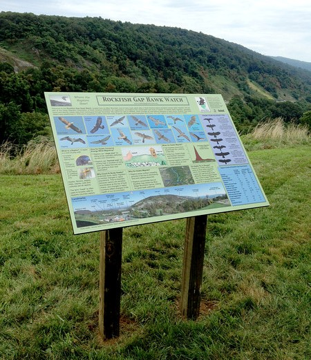 Example interpretive sign design recently installed at Rockfish Gap, Afton, VA.