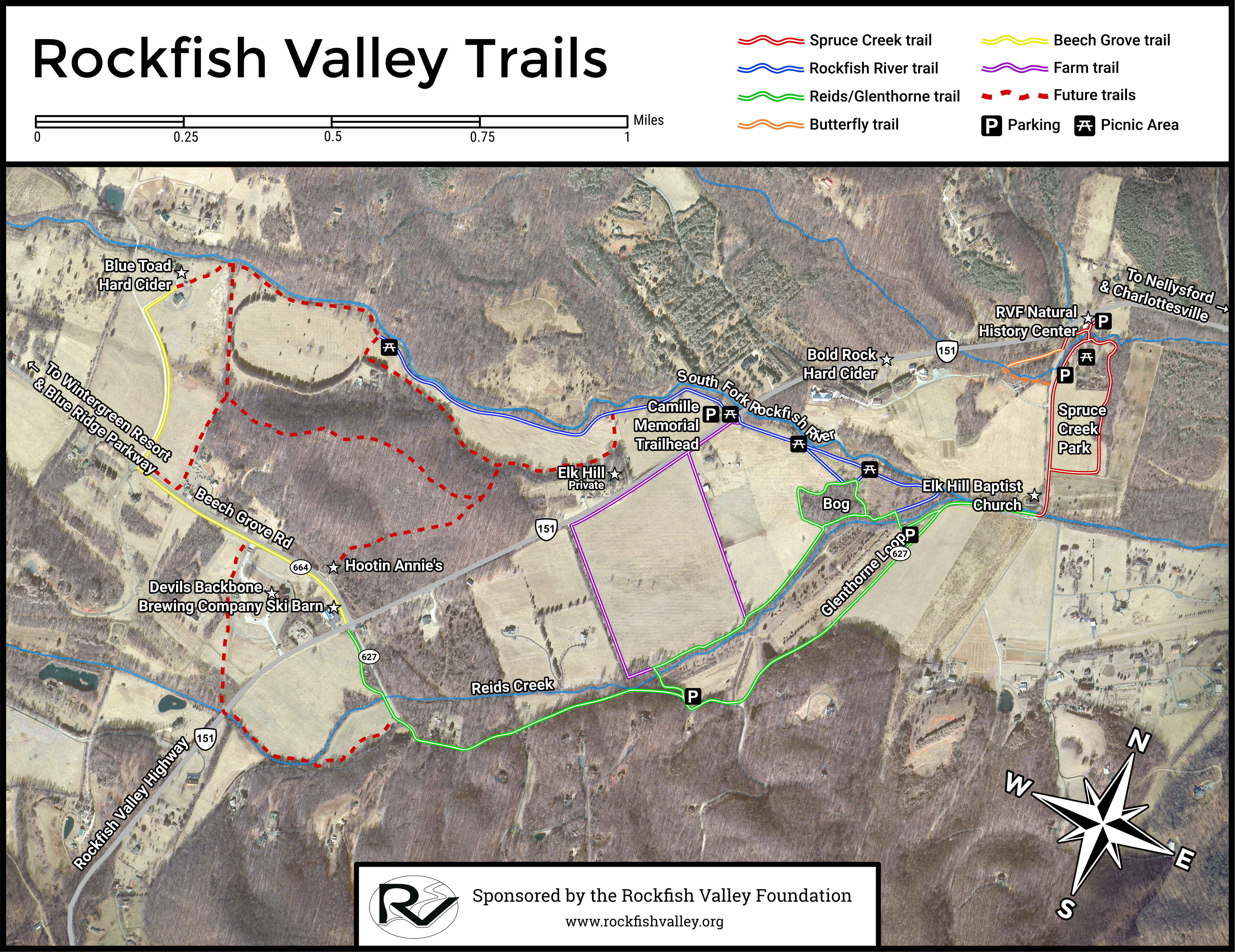 Rockfish Valley Trails map