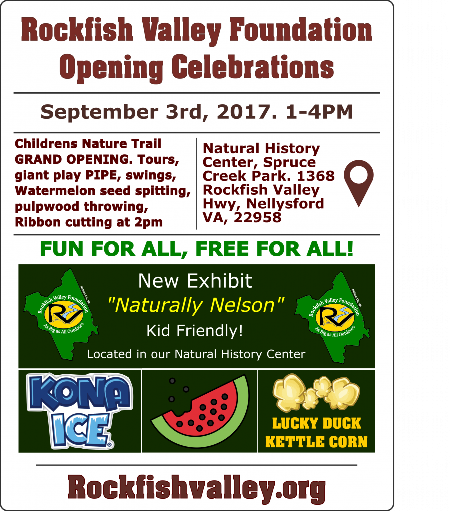 Opening celebrations at spruce creek park 1-4pm